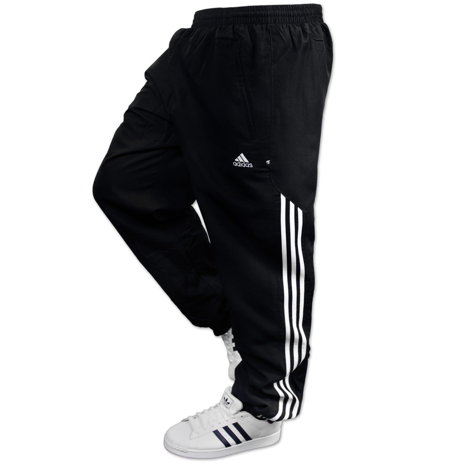 8342400c84a7 Adidas AD Woven Sting mens Jogging Pant Tracksuit Bottoms Track Pants  Cuffed Black