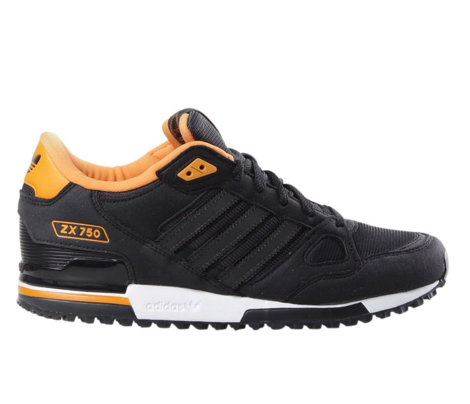 e9af25266143f Adidas Originals Mens Black ZX 750 Sude Leather and Mesh Running Trainers