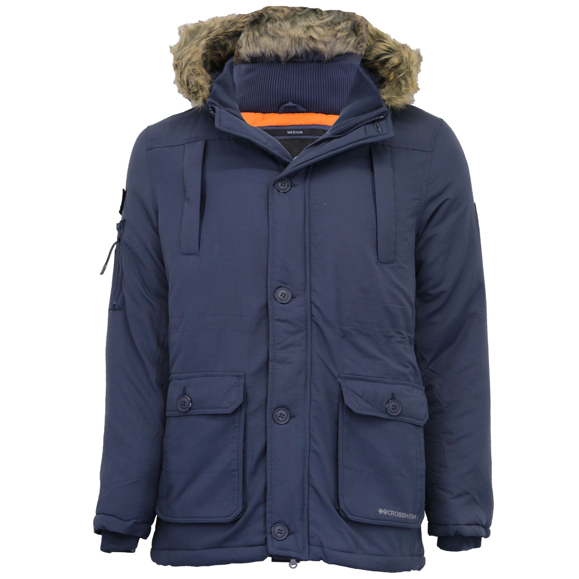 Blue Parka Coat Mens
