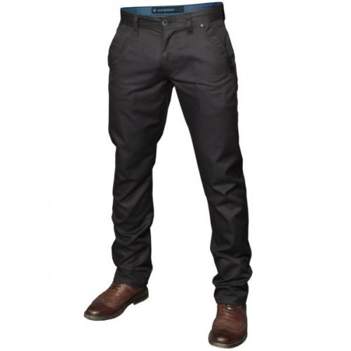 Mish Mash Mens Designer Cojiba Black Straight Tapered Fit Chino Jeans Trousers